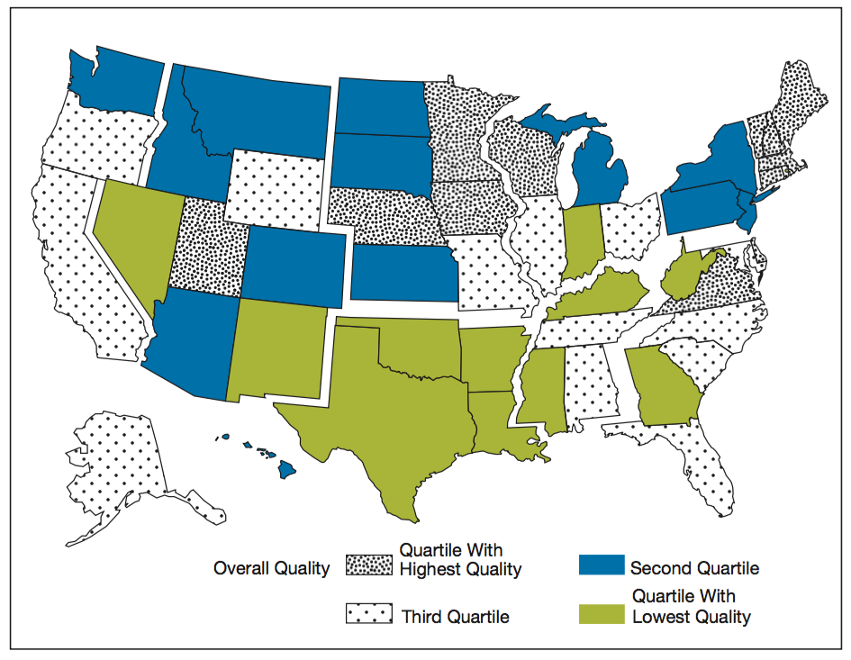 AHRQ Quality by State 2014
