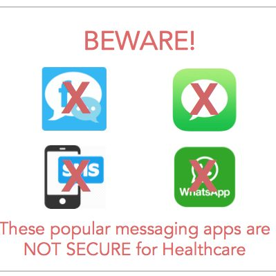 These apps are NOT HIPAA-compliant