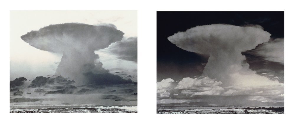 Plume , 2003/2015 archival inkjet prints 40-3/4 x 49-1/2 x 2-1/2 inches; 103.5 x 125.5 x 6.5 cm, each (framed separately)  40-3/4 x 101 inches; 103 x 256 cm (overall dimensions)  Edition of 5
