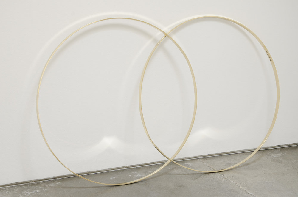 Twilight Venn , 2014 brass 42 x 74 x 2-1/2 inches 106.68 x 187.96 x 6.35 cm (overall) DM001
