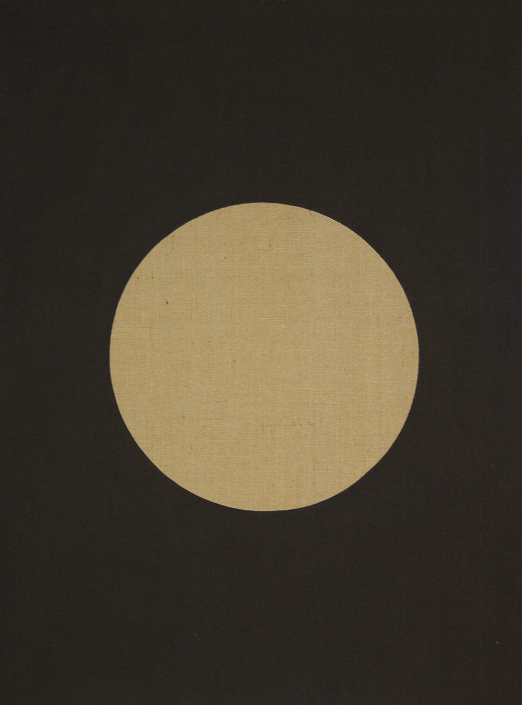 Black (Moon) Exterior Noche , 2018 acrylic on jute 51-1/4 x 38-1/4 inches, 130 x 97 cm ABM104