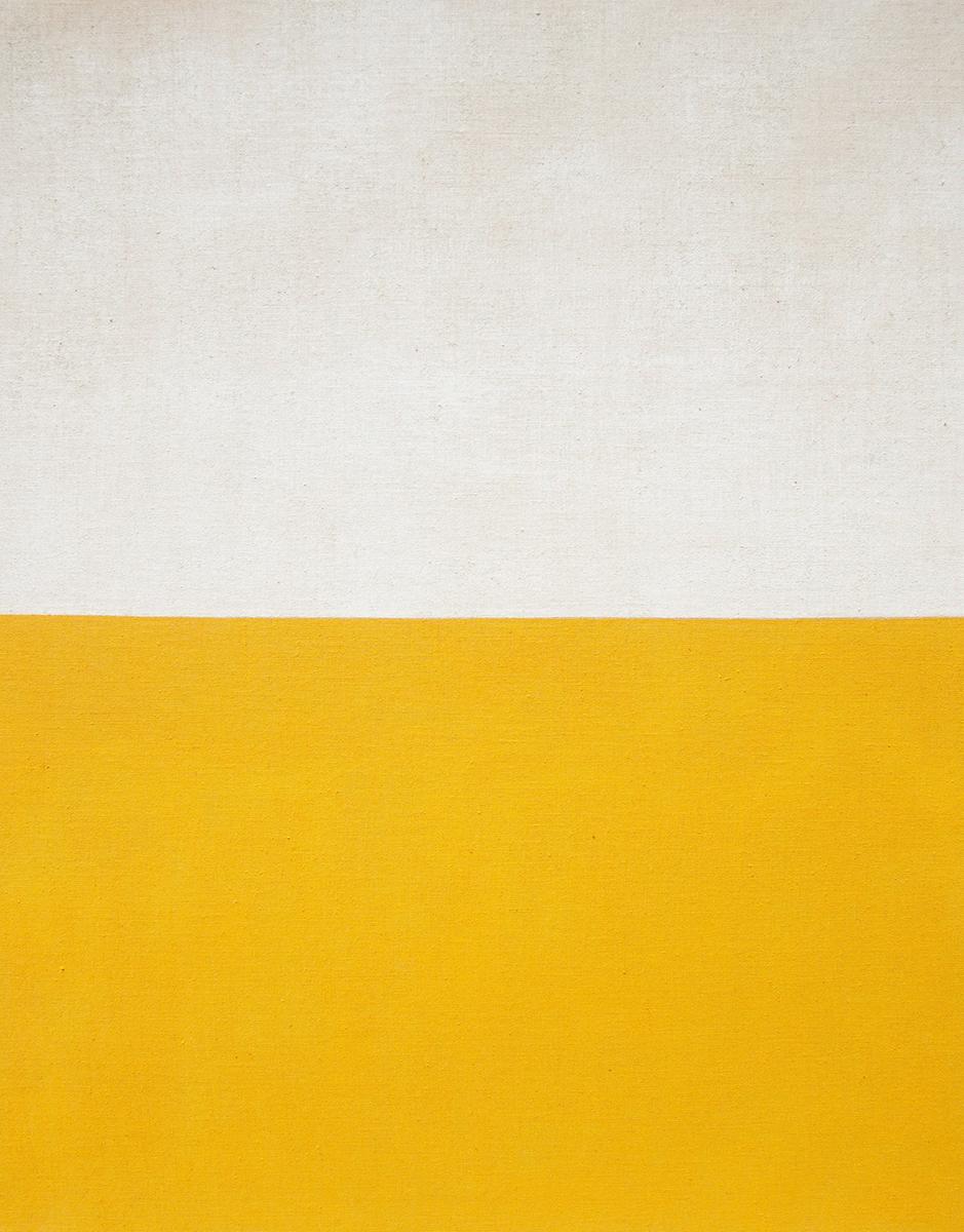 Yellow , 2016 acrylic on jute 78-3/4 x 62-1/4 inches, 200 x 158 cm ABM034