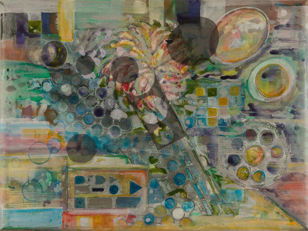 "Jubilation   Acrylic on Stretched Canvas  24"" x 36"""