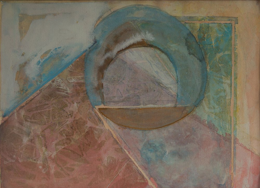 "Triangulation   Acrylic on Paper  24"" x 31"" Framed"