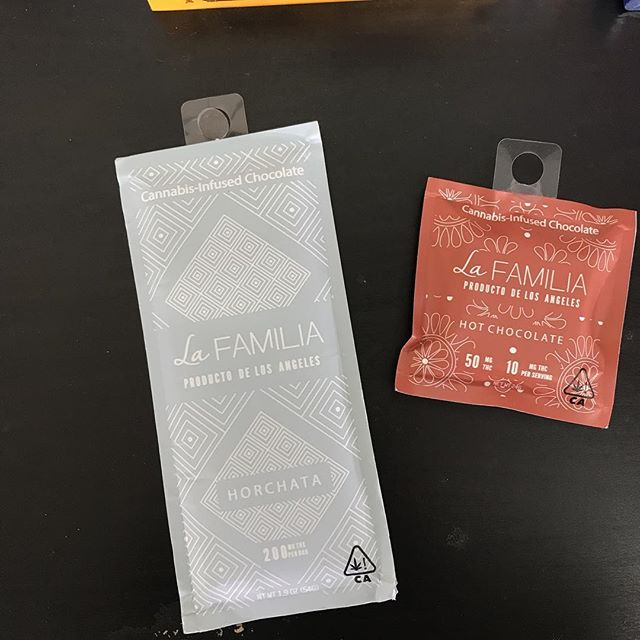 La familia cannabis infused chocolate! Available in 50mg dosage and 200mg. Check out our hot chocolate or horchata flavor to get you into the fall spirit!  #420 #stayhigh #edibles #smokeweedeveryday #cannabis #gethigh #kush