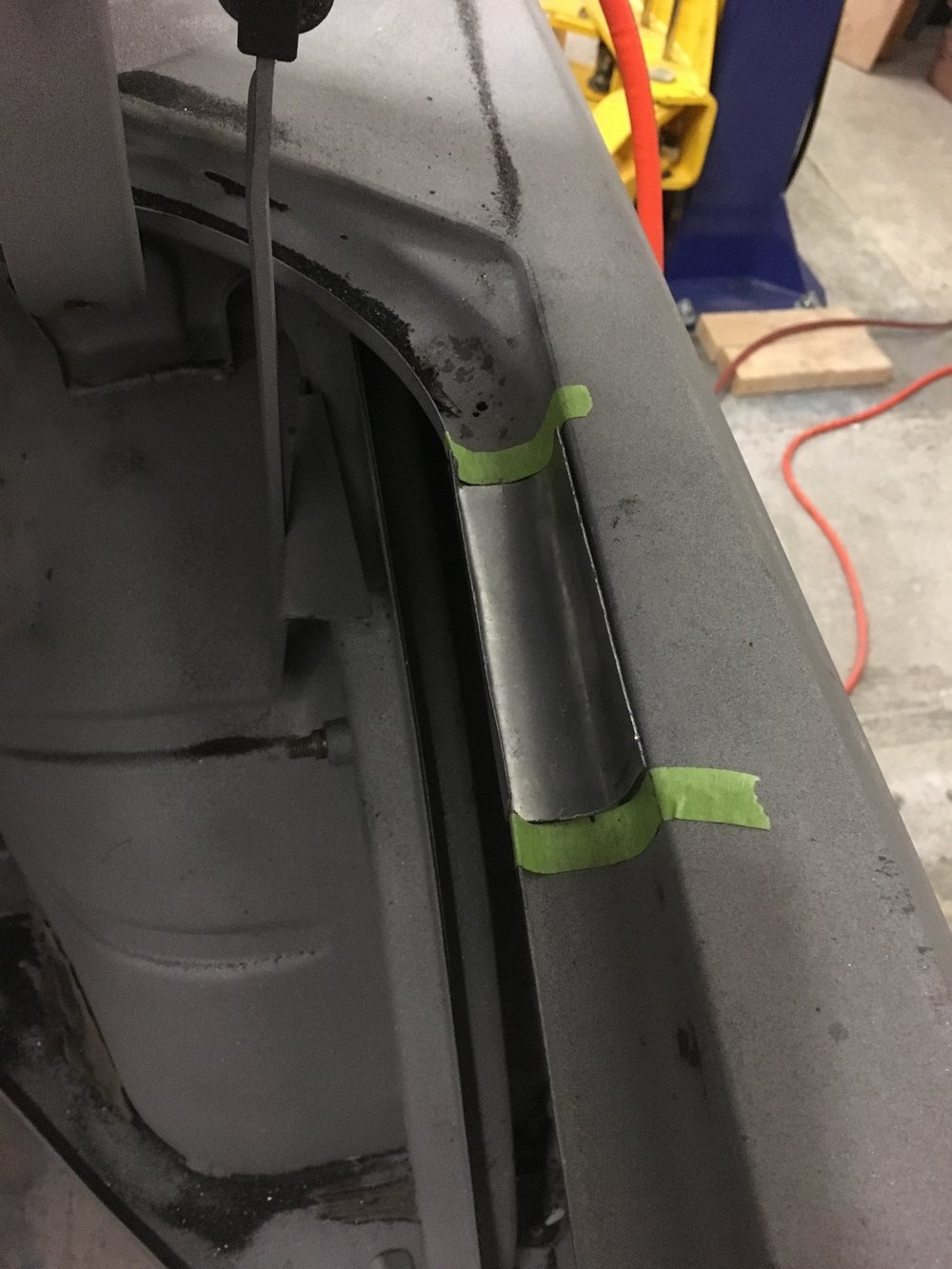 Weld in a fresh section…