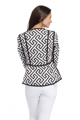 Trimdin Fitted Jacket Black and White Back.jpg