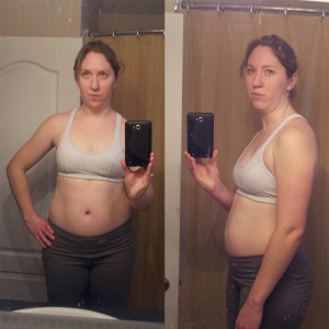 "This is me on Jan 21st - down 2"" of my waist, 1"" off my hips, & 3lbs"
