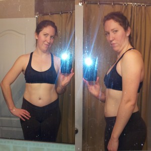 "This is me on Dec 30th - down 3.5"" off my waist, 1"" off my hips, & 6lbs since Jan 1st"
