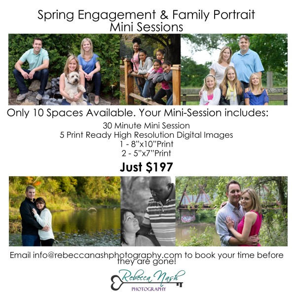 Rebecca Nash Photography Spring Engagement and Family Portrait Mini Sessions