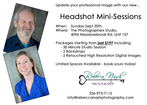 Headshot Mini Sessions
