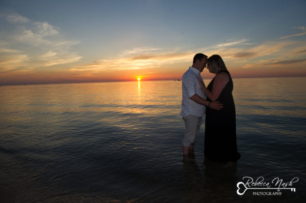 Sunset in Port Franks with Jessica & Kevin for their Engagement Portrait session
