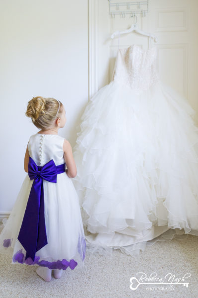 Flower Girl Jillian loved admiring the brides gown and told me how she and Jess were going to be princesses together