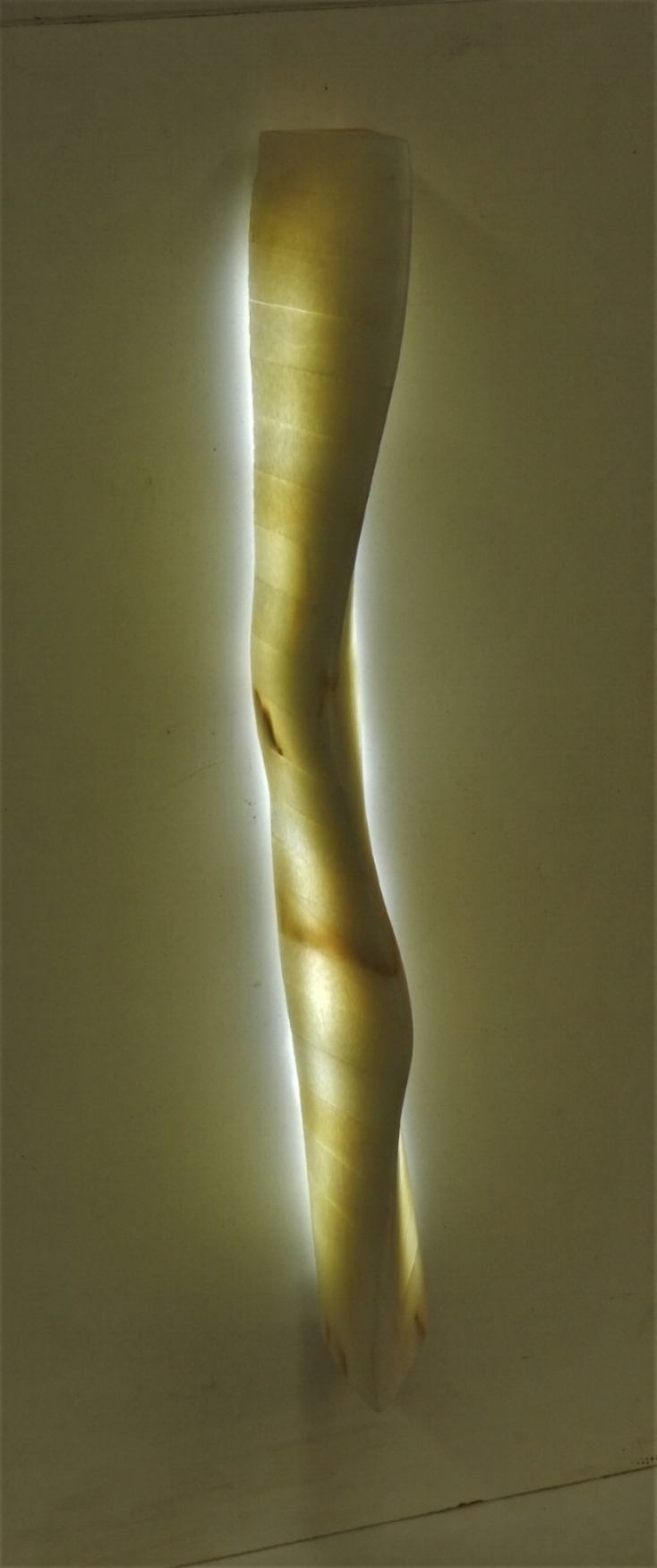 """Model for a Sconce #2  6"""" x 5"""" x 24""""  Calcite"""