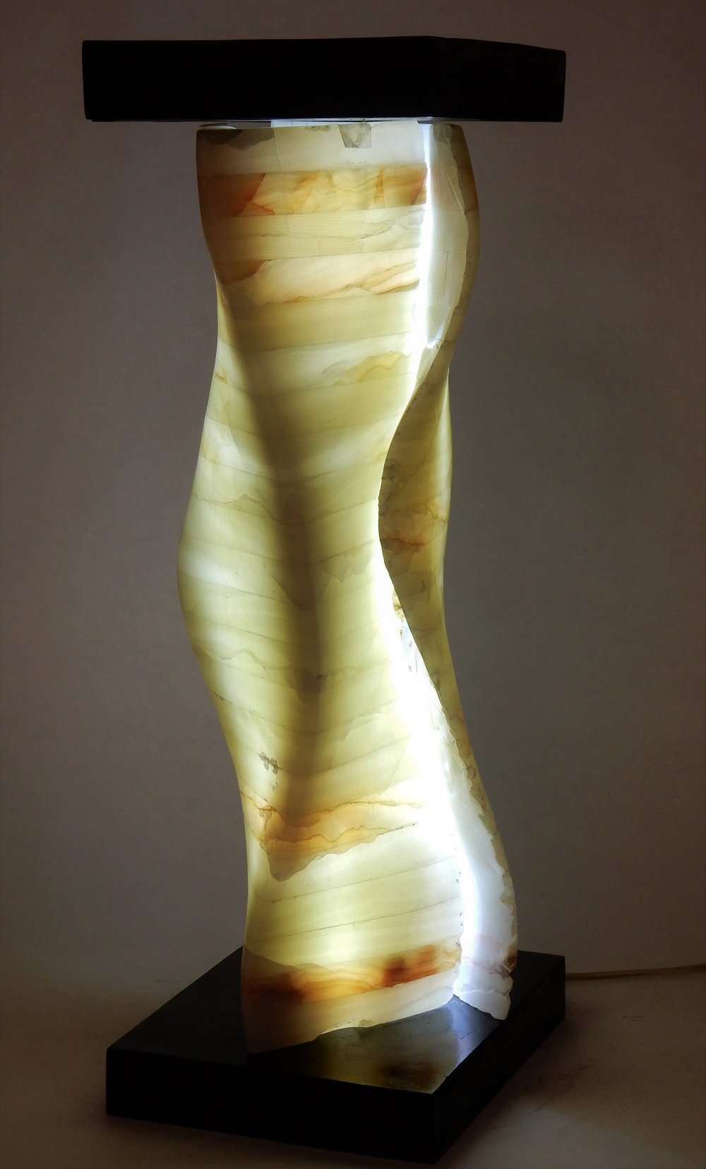 """Model for a Sconce #1  9"""" x 9"""" x 24""""  Calcite"""