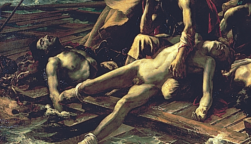 "This painting, ""The Raft of the Medusa,"" frequently appeared in Nilsen's fantasies."