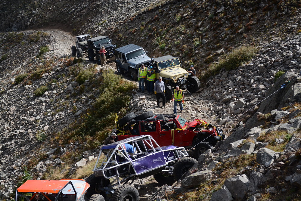 Vehicle recovery - Iron Chest Mine Trail
