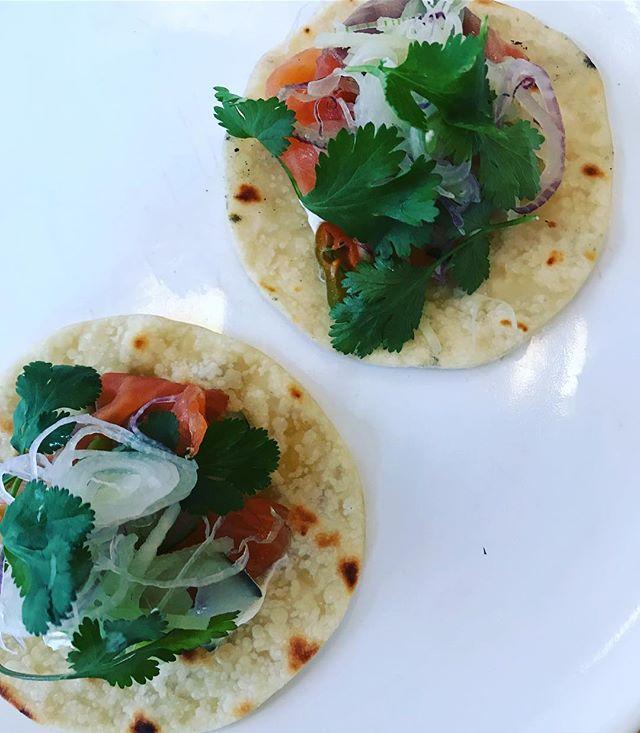 Home cured salmon tacos on our menu tonight .  #plus61marrakech #morocco #marrakech #marrakechrestaurant #guelizrestaurant #igfood #goodfood #cleanfood #passionpassport #foodphotography #food #marrakechstyle #gueliz #travel #travelgram #natgeo #tasteintravel #cntraveler #lonelyplanet #livetravelchannel #mytinyatlas #foodfeed #darlingescapes #organic #organicfood