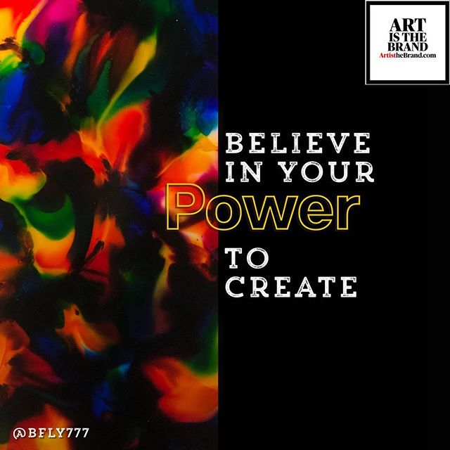 Believe in your gifts. Use your POWER for good. Believe in your POWER to create. Believe in your power to CREATE. #Power #Creativity #Heroic #Instincts #ArtIsTheBrand #BrandVoice #Authenticity #OwnYourSkill #OwnYourGift #OwnYourPurpose #TheBusinessOfArt #NotJustPrettyPictures #BrandMarketing  Art By @bfly777 (www.BFLY777.com)