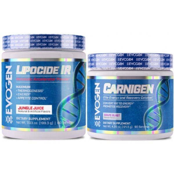 EVOGEN Lipicide IR - This product is an instant release fat burning powder that will give you a boost of energy every morning. I used this fat burner specifically for fasted cardio during my last competition prep. It also helped to keep my appetite under control, which was a huge bonus. I would recommend the Fiery Fruit Punch flavor.