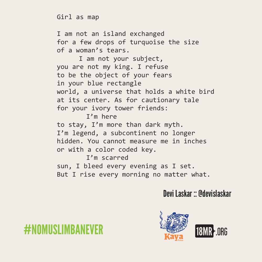 18MillionRising - #NoMuslimBanEver Micropoem Round-Up (2017)