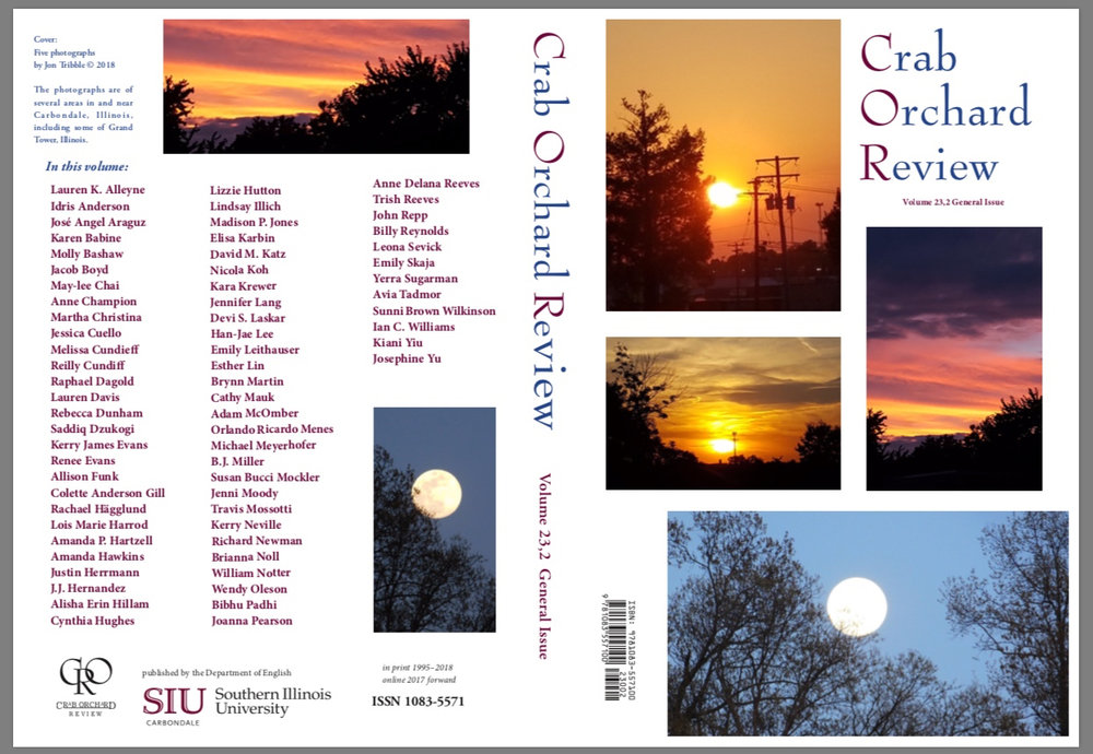 """Stalks: Excerpt of """"Shadow Gardens"""" - Many thanks to Jon Tribble and Alison Joseph! So thrilled and grateful to have my story """"Stalks"""" in the latest issue of Crab Orchard Review (2018).Check it out here."""