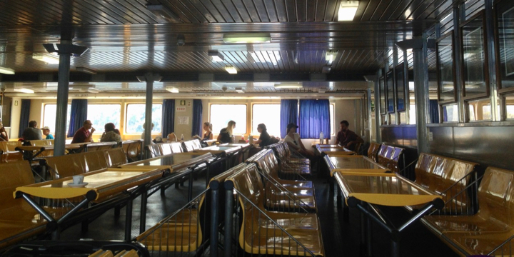 The ferry to Lastovo. So much empty and just look at that retro style!