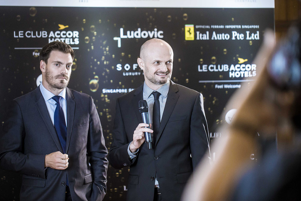 Ludovic Tendron interviewing Edouard Cossy