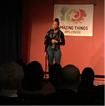 Zyann Sharkah, the 2018 BHS Poetry Out Loud Champion