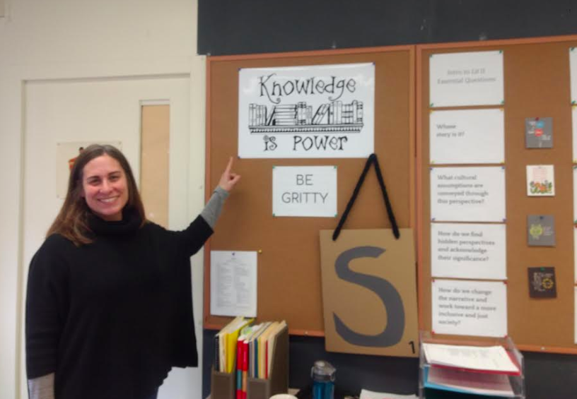 Ms. Crossman reinforcing the impact of reading for knowledge and understanding