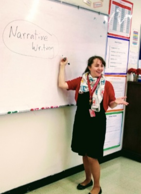 Ms. Eshelman introducing the elements of narratives