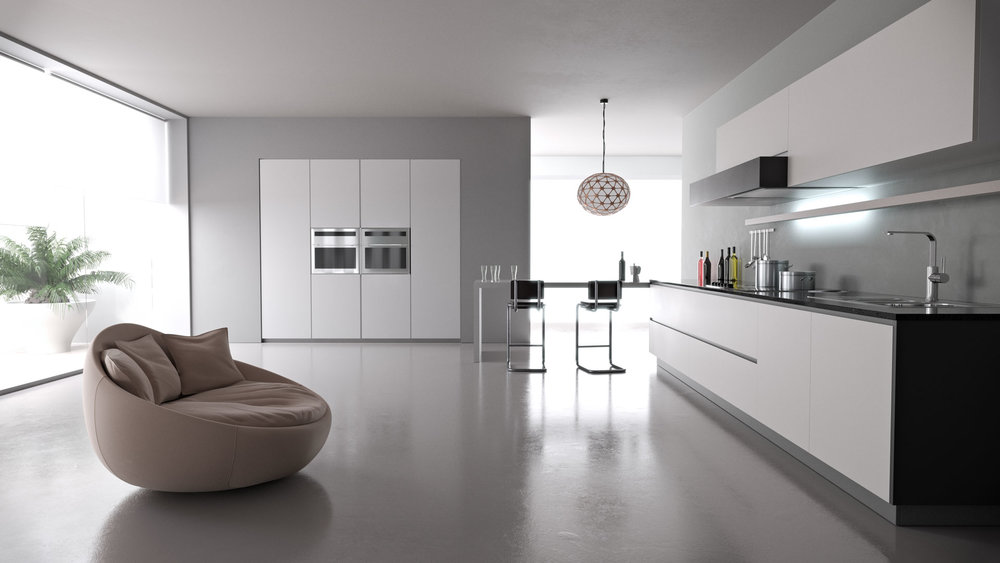 Kitchen scene textured with VizPak: Architecture