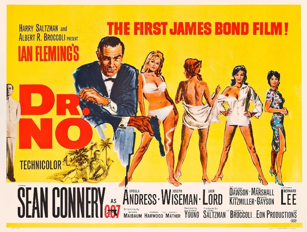 Original film poster for Dr No (1962).