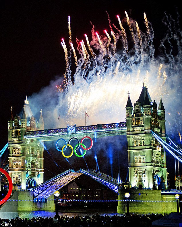 Fireworks at the opening ceremony of the Olympic Games in London (2012). Photo courtesy of EPA.