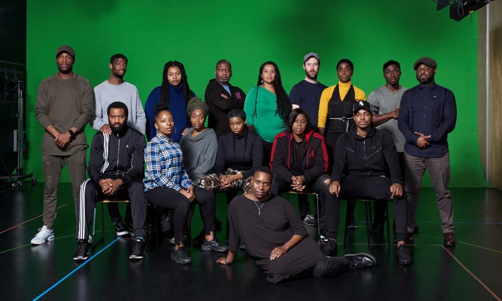 The cast of Ear for Eye. Photo courtesy of Suki Dhanda for the Observer (2018).