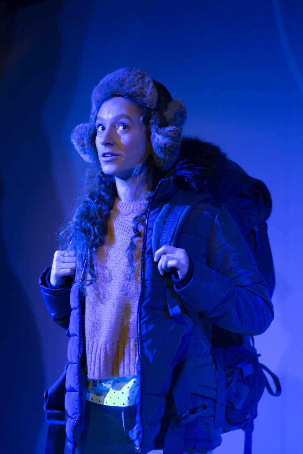Gemma Barnett as Rory in A Hundred Words for Snow. Photo courtesy of Nick Rutter (2019).
