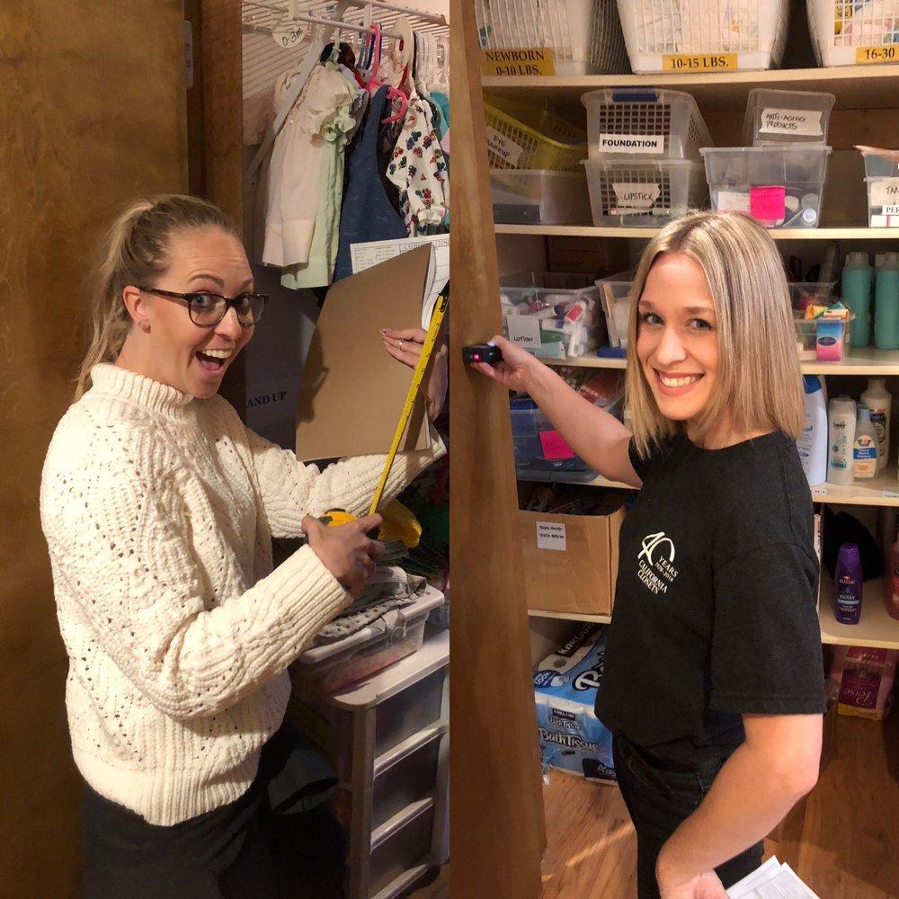 L: Charity Riley, R: Amy Bodi of California Closets
