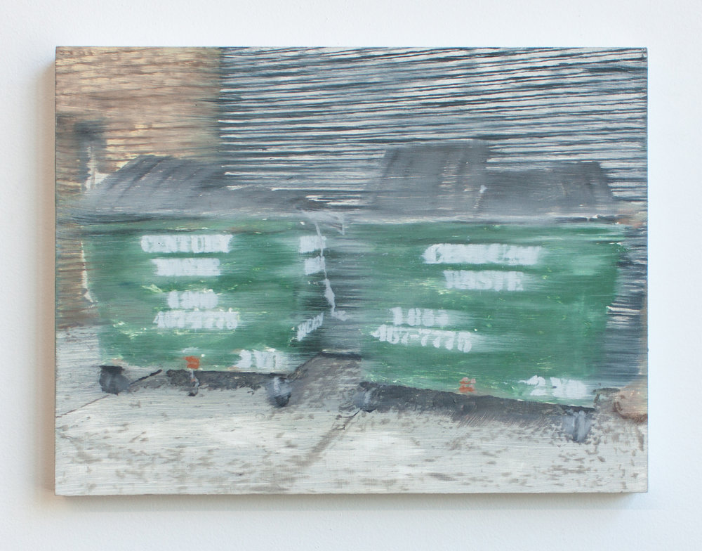 Century Waste, oil on panel