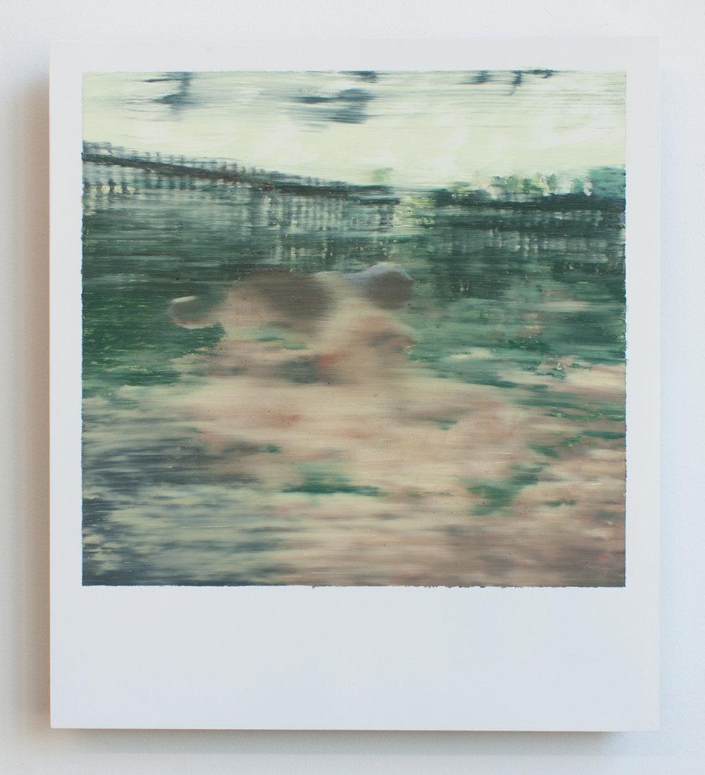 Polaroid 2, oil on panel
