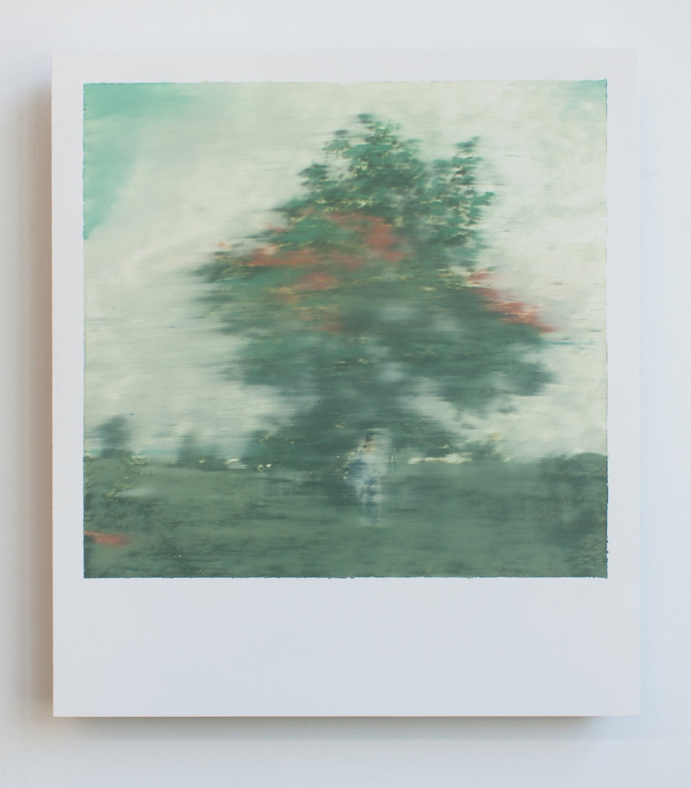 Polaroid 1, oil on panel