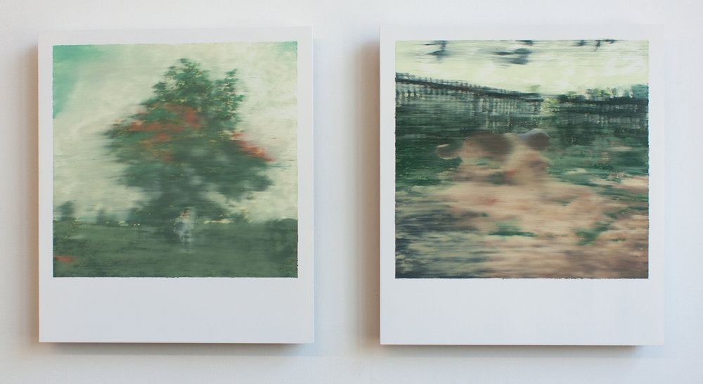 Polaroid Paintings, oil on panel