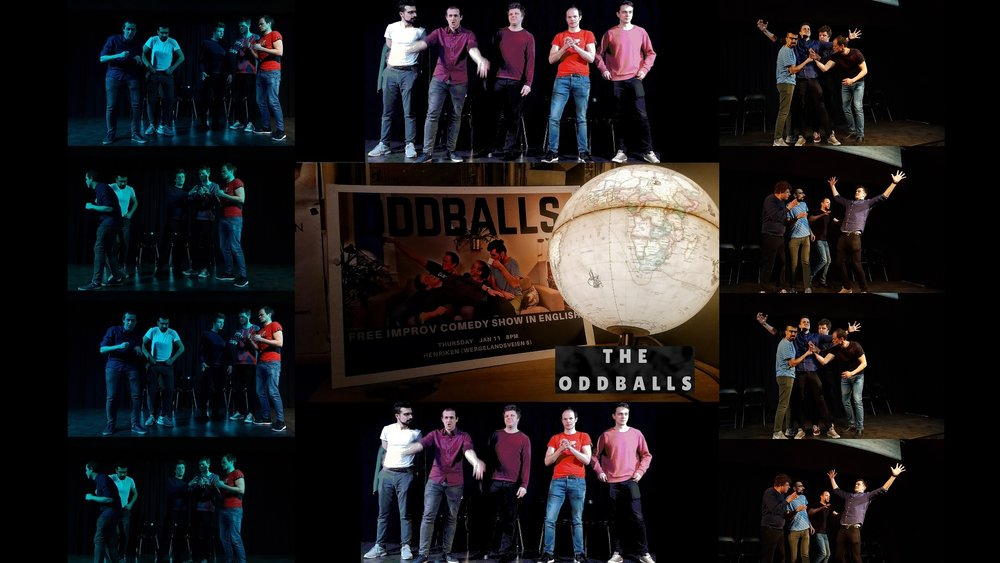 The Oddballs(NO) - The Oddballs is a fun longform team of exciting and eccentric improvisers.They create vivid universes at the drop of a hat, and discover unexpected stories through impressive characters and thrilling moments.