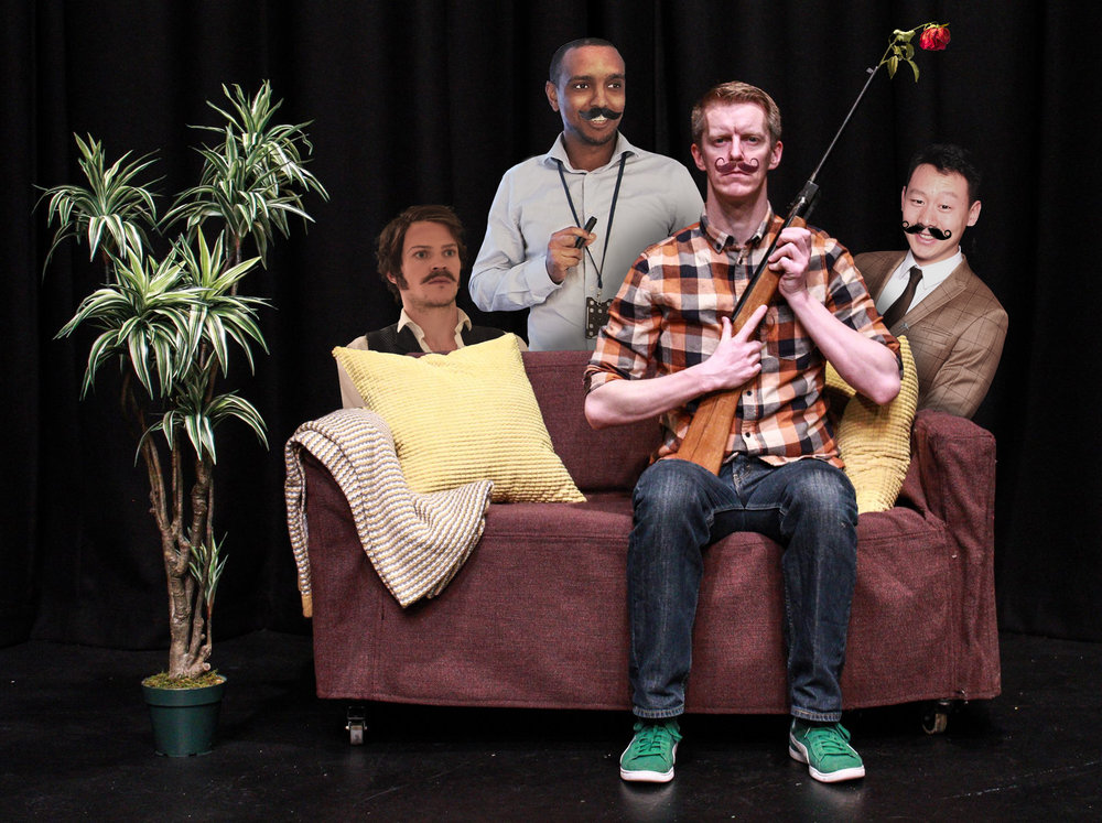 Mustache Support Group(NO) - Mustache Support Group's free-form impro performances are like MSG: happy, tasty, and super addictive! They enhance the flavor of any impro show. M.S.G. are Aiwei, Liban, Terje & Kevin! Mustache Support Group: