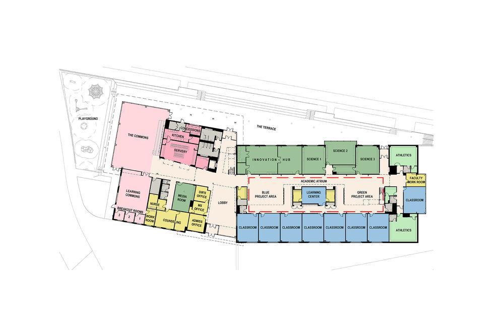 New Middle School Floor Plan First Floor