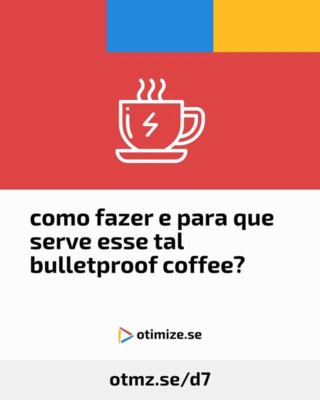 Eu não sei se você já ouviu falar do mundialmente famoso bulletproof coffee, mas nesse post você vai entender melhor um pouco da história dele, pra que serve e também como fazer - eu também não gosto de fazer nada muito complicado na cozinha, mas é bem simples, juro!⠀ ⠀ Se você nunca experimentou, tente, é delicioso! Eu não gostava de café e passei a gostar por causa dele.⠀ ⠀ Se isso despertou sua curiosidade, o post tá em https://otmz.se/d7⠀ ⠀ No link da bio, você encontra muitos outros conteúdos pra otimizar sua vida.⠀ ⠀ ⠀ ⠀ #otimizese #bulletproofcoffee #cafe #brainoctane #bulletproof