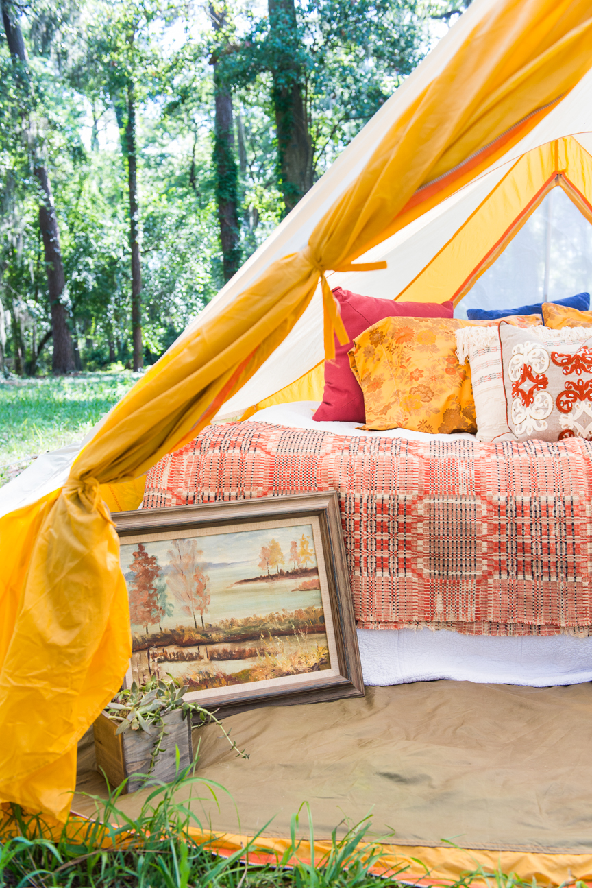 Glamping | Glamping Tent | Glamping Ideas | Glamping Decorations | Fall Vibes | Fall Decor Ideas | Glamping Party | Boho Fall Decor | Cozy Fall Decor | Paprika Southern