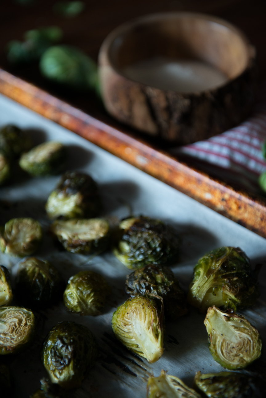 Roasted Brussels Sprouts Recipe | Brussels Sprouts | Charred Brussels Sprouts | Thanksgiving Recipes | Thanksgiving Ideas | Holiday Meal Ideas | Holiday Recipes | Winter Comfort Food | Vegetarian Thanksgiving Recipes | Vegetarian Thanksgiving Ideas | Vegan Thanksgiving Recipes | Vegan Thanksgiving Ideas | Vegetarian Holiday Recipes | Vegan Holiday Recipes | Food Photography | Food Styling | Food and Prop Styling Ideas | Paprika Southern