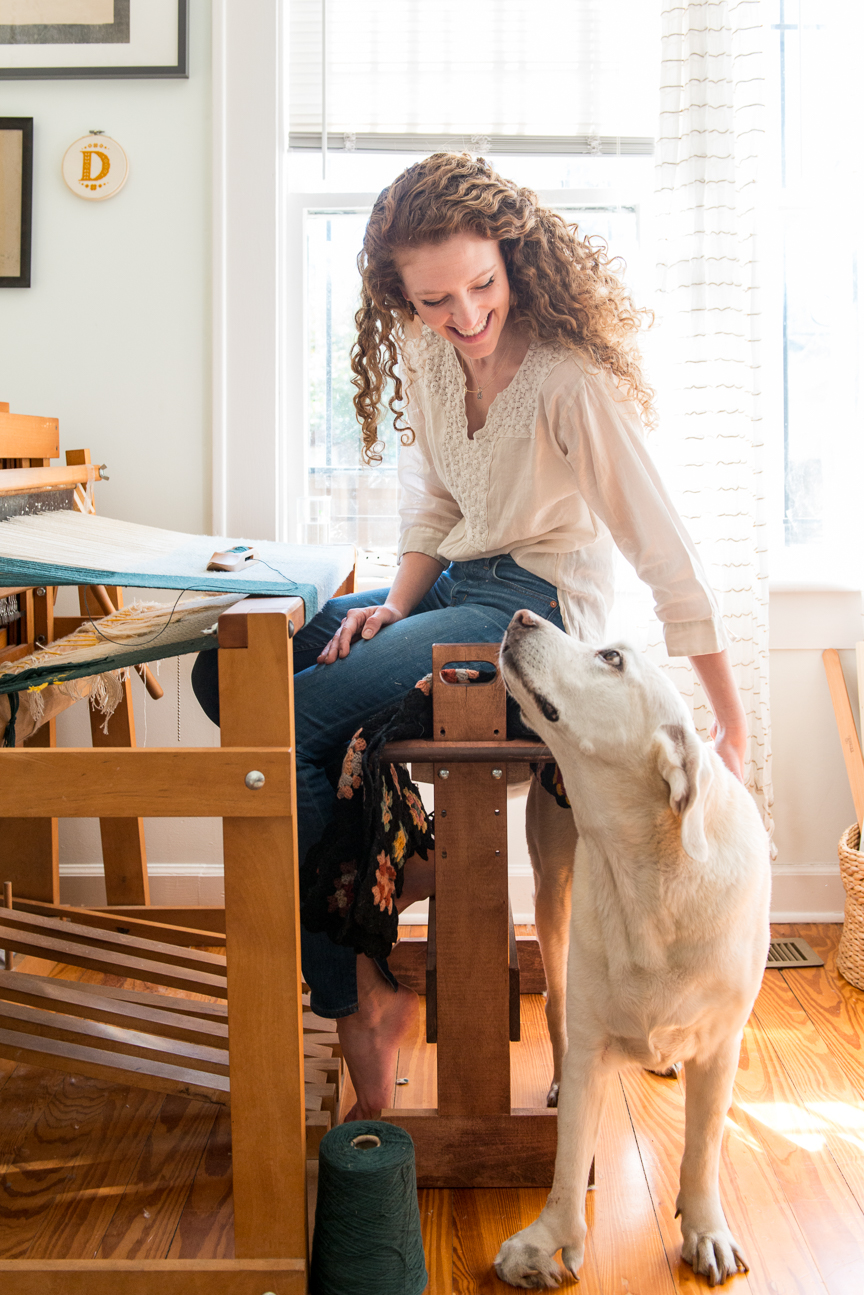 Daughter Handwovens | Textiles Artist, Savannah, GA | Handwoven Blankets | Handwoven Tea Towels | Loom Weaving | Independent Maker | Paprika Southern