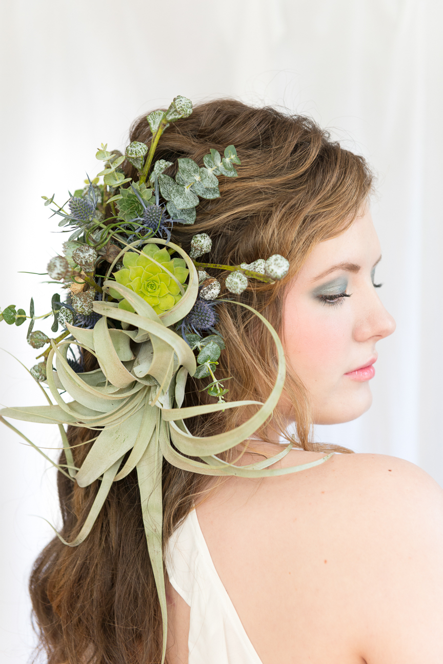 Botanic Spirit | Floral Hair Masterpieces with Wildflower Gypsy | Hair Florals | Spring Hair | Flower Crown | Floral Crown | Free Spirit | Spring Beauty | Editorial Hair | Editorial Hair Ideas | Succulents | Thistles | Eucalyptus Pods | Paprika Southern