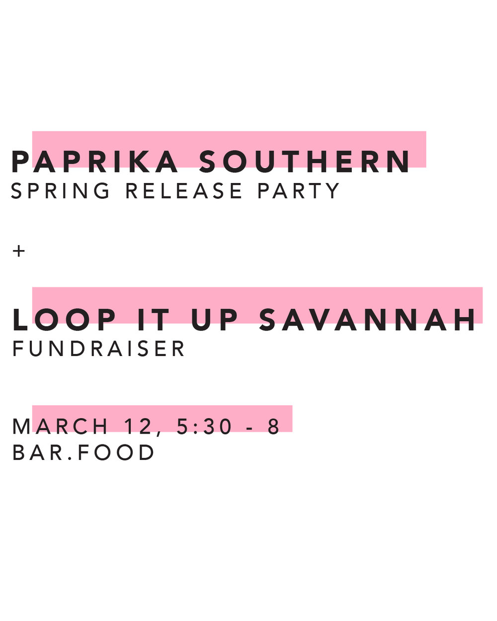 Paprika Southern Spring 2019 Release Party